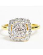 Diamond Jewelry เพชรแท้ บนตัวเรือนทอง 9K